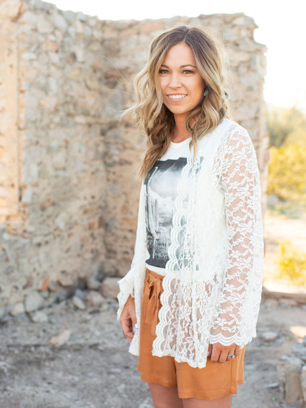 Lace Bell Sleeve Duster