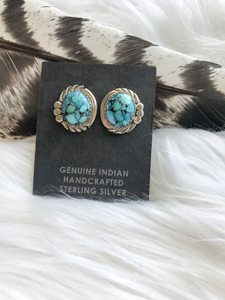 Geniune Turquoise Earrings