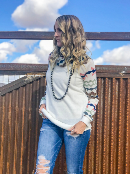 Aztec Multicolored Long Sleeve Top