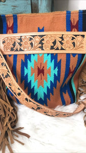 Saddle Blanket Purse with Fringe
