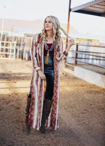 Snake Print Maxi Duster