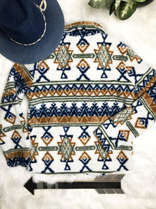 Aztec Sherpa Sweater