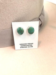 Sterling Silver Turquoise Stud Post Earrings