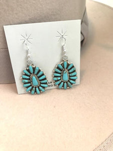 Sterling Silver Cluster Earrings