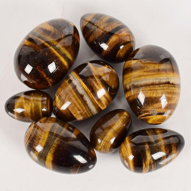 Tiger's Eye Yoni Egg