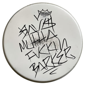 "14"" Played / Signed Tom Drumhead"