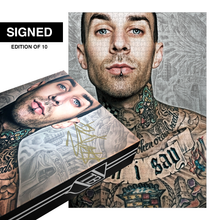 Load image into Gallery viewer, SIGNED Travis Barker Jigsaw Puzzle