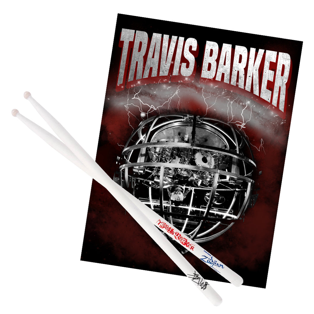 Signed Drumstick + Poster Bundle 2