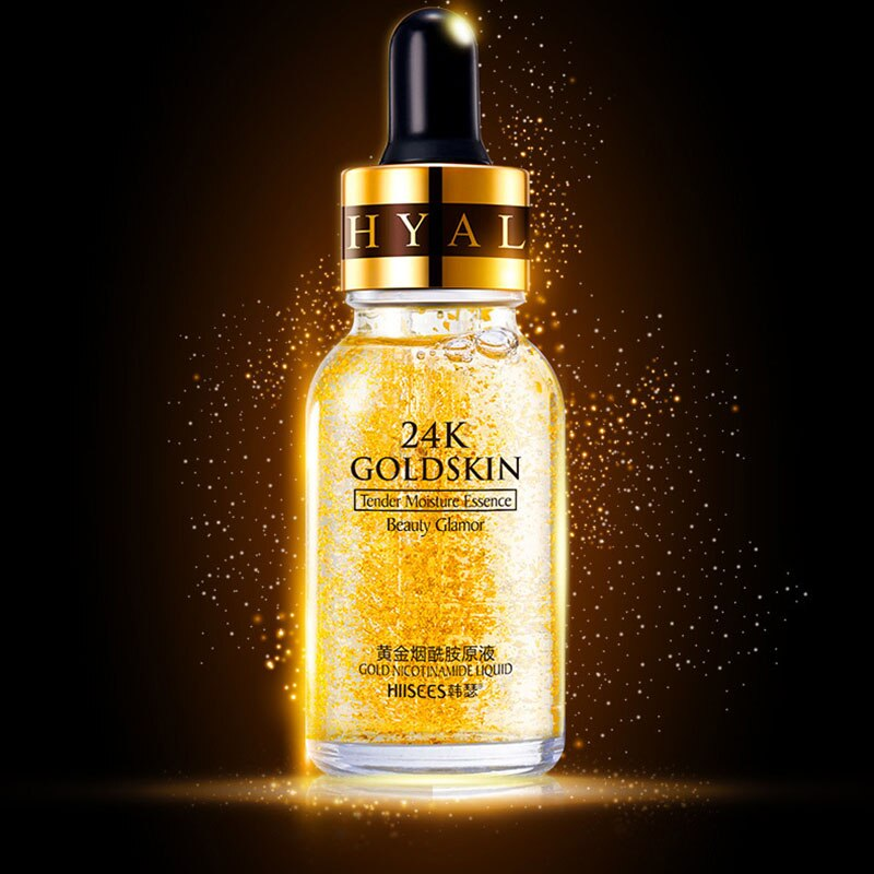 Grundierung Make-up 24K Gold-Essenzöl - Porenminimierer Hautserum