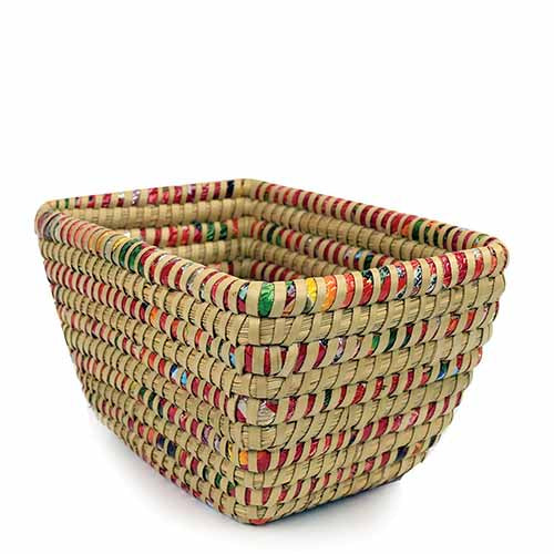 Candy Wrapper Basket (Bangledesh) - Small Things Fair Trade