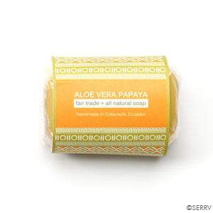 Papaya Aloe Vera Soap - Small Things Fair Trade