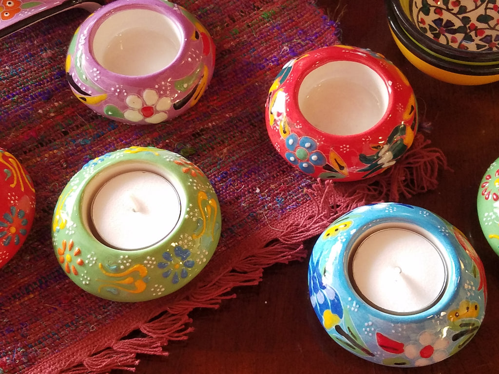 Turkish Ceramic Votive Holder - Small Things Fair Trade