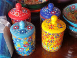 Turkish Ceramic Small Canister - Small Things Fair Trade