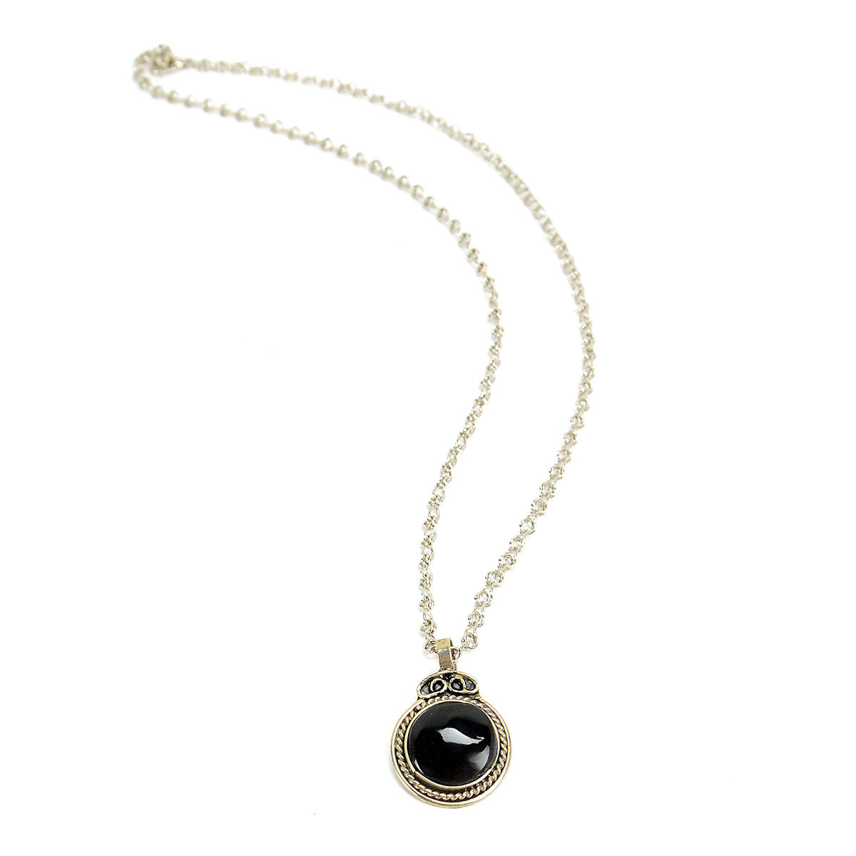 Black Onyx Pendant - Small Things Fair Trade