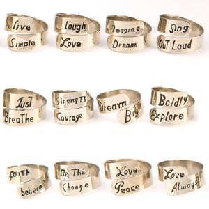 Motto Ring - Small Things Fair Trade