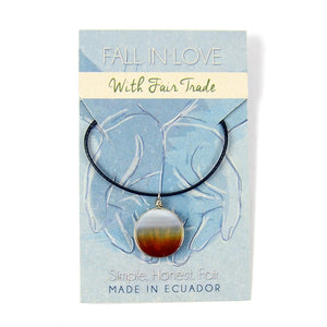 Simple Stone Necklace - Small Things Fair Trade