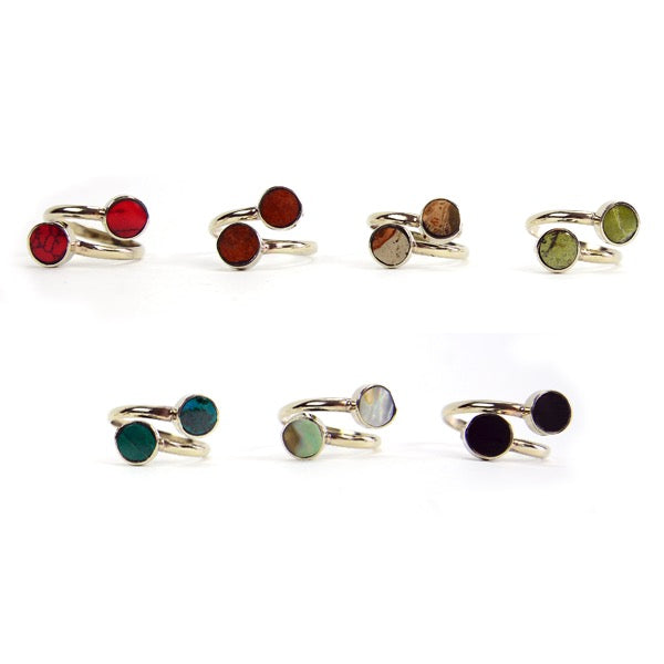Mini Twin Stone Ring - Small Things Fair Trade