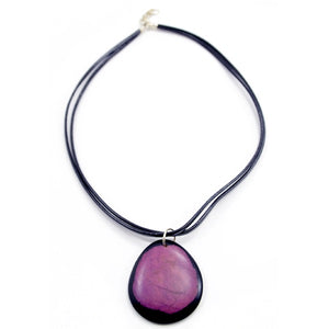 Dyed Circle Necklace - Small Things Fair Trade
