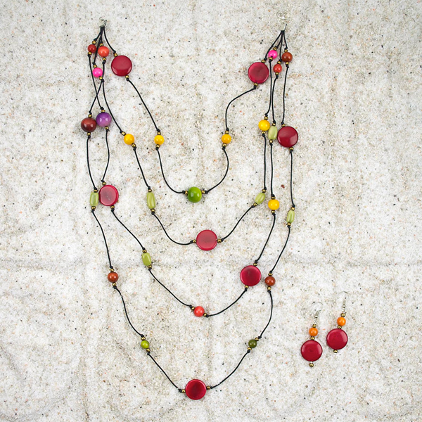 Planetary Necklace/Earring Set - Small Things Fair Trade