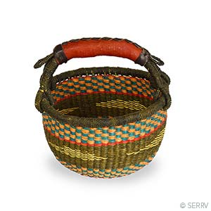 Small Round Peat Basket - Small Things Fair Trade