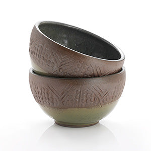 Stamped Geo Bowl - small - Small Things Fair Trade