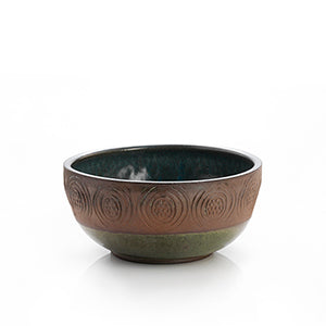 Stamped Geo Medium Bowl - Small Things Fair Trade