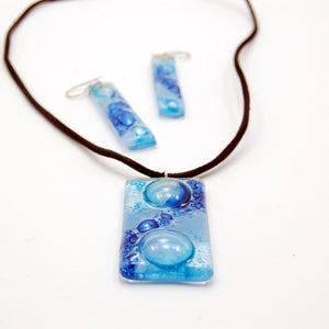 Naked Glass Art Set (Necklace, Earrings, Ring) - Small Things Fair Trade