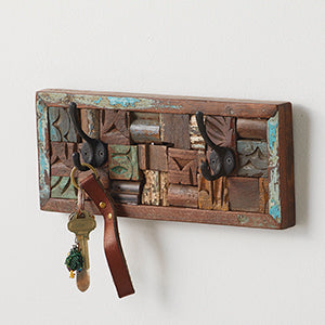 Wood Block Wall Hanger - (Reclaimed Wood)