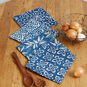 Dabu Block Print Napkins- Set of Four - Small Things Fair Trade
