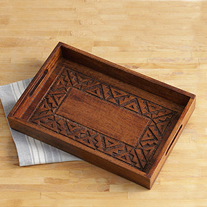 Rangoli Wood Tray - Small Things Fair Trade