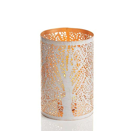White Birch Lantern - medium