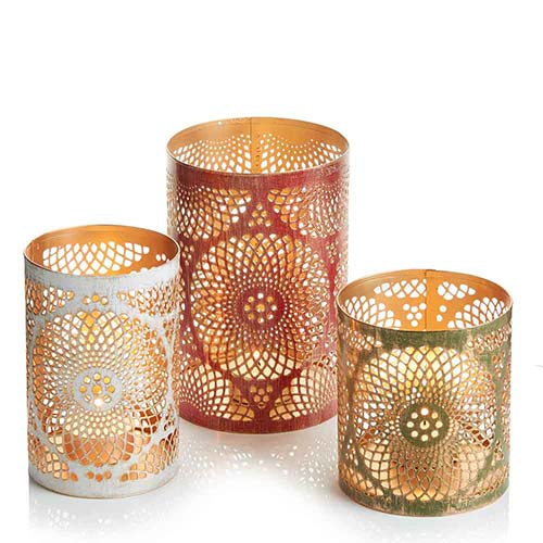 Mandala Lanterns - Set of 3