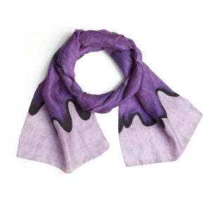 Ocean Wave Scarf - blues or purples - Small Things Fair Trade
