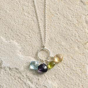 Semiprecious Stone Pendant Necklace - Small Things Fair Trade
