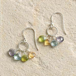 Semiprecious Stone Earrings - Small Things Fair Trade
