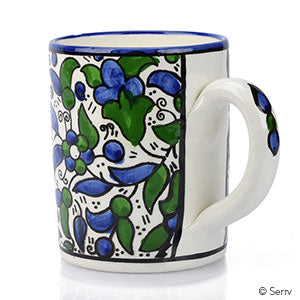 Blue Violet Vine Mug - Small Things Fair Trade