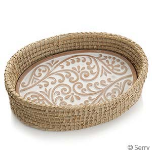 Bread Warmer Basket - double vines or tree of life - Small Things Fair Trade