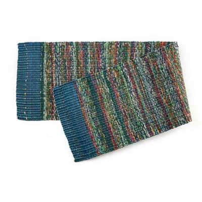 Teal Sari Table Runner