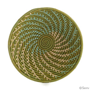 Basket - Green Fern - Small Things Fair Trade