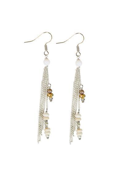 Chloe Earrings - sea salt - Small Things Fair Trade