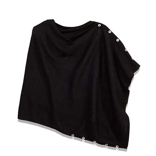 Alpaca Poncho-black, gray or garnet - Small Things Fair Trade