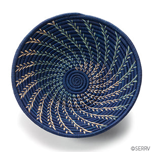Basket - Navy Fern - Small Things Fair Trade