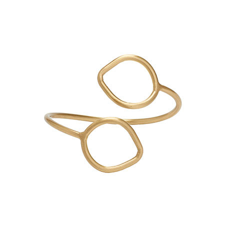 Layered Leaf Ring - gold - Small Things Fair Trade