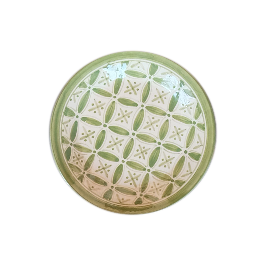 Spring Green Fez Plate - Small Things Fair Trade