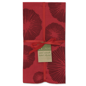 Seaflowers Napkins - Red (set of 4)