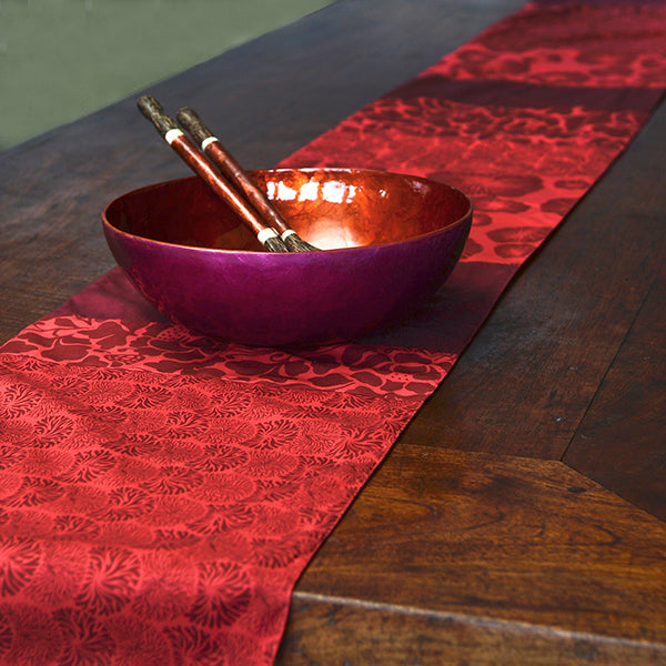 Table Runner Seaflowers - Red