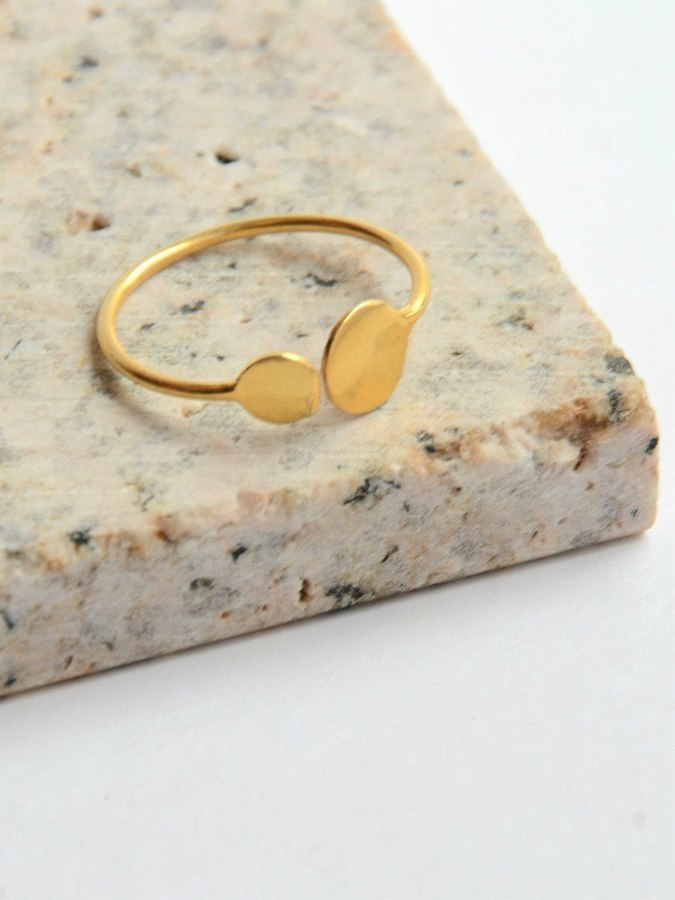 Dot Ring - Gold - Small Things Fair Trade
