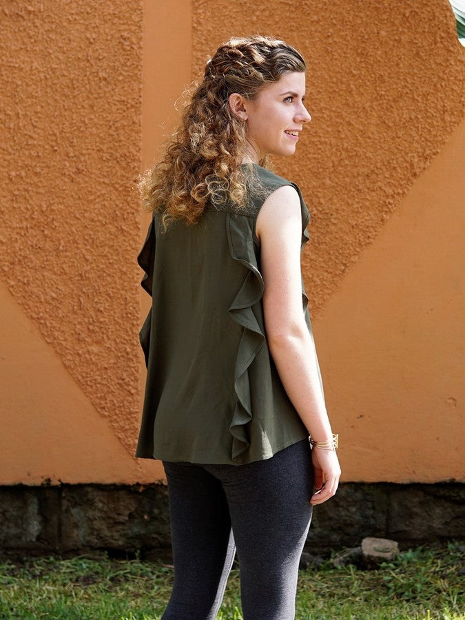 Fresia Ruffle Blouse - Small Things Fair Trade