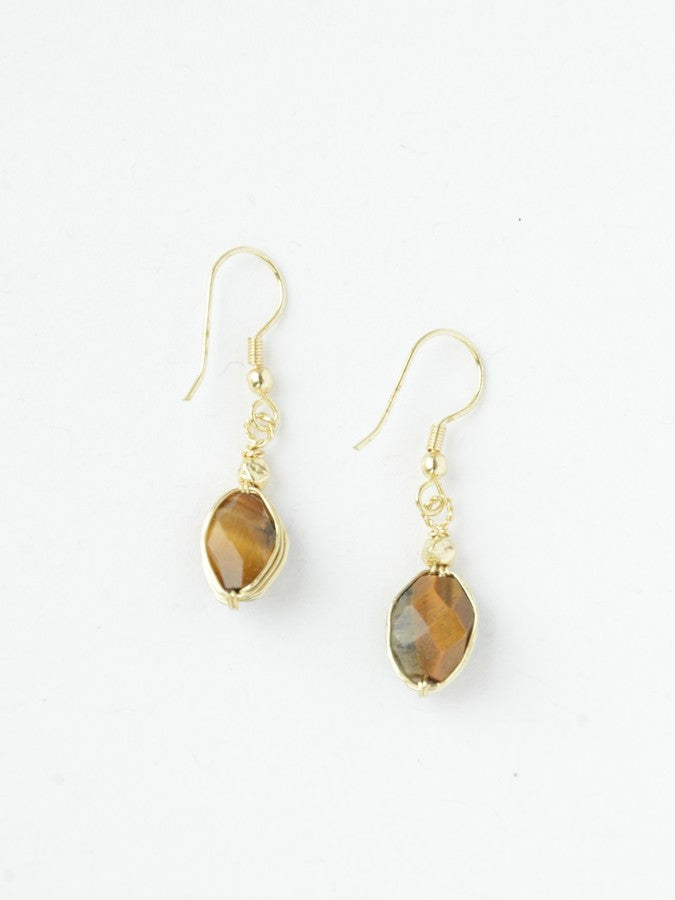 Tiger's Eye Earrings - Small Things Fair Trade