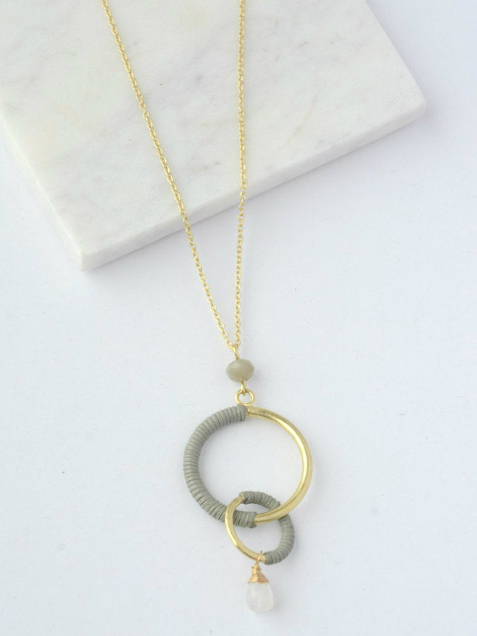 Wrapped Rings Necklace - Small Things Fair Trade